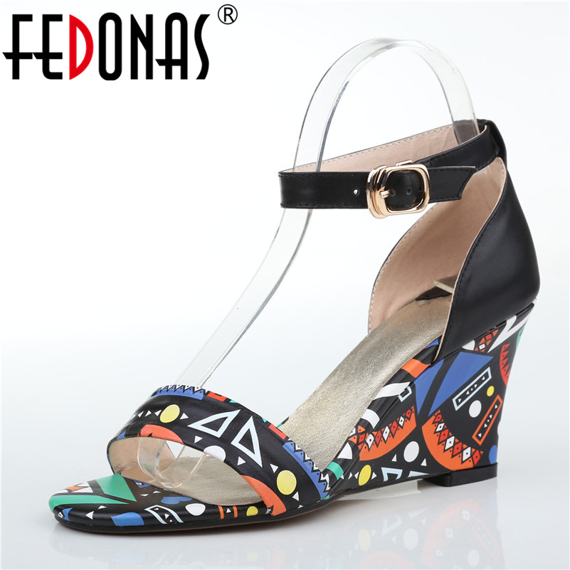 FEDONAS Brand Women High Heel Pumps Bridal Wedding Party Shoes Woman Fashion Dress Genuine Leather Shoes