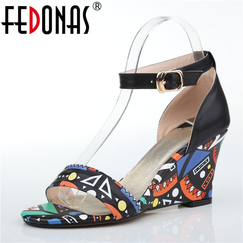 FEDONAS Marke Frauen High Heel Pumps Braut Hochzeit Party Schuhe Frau Mode Kleid Aus Echtem Leder Schuhe Sommer Sandalen-in Hohe Absätze aus Schuhe bei  Gruppe 1