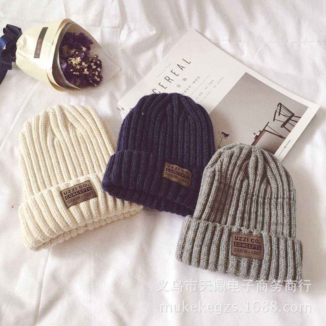 Fashion thick Twist Thread Knitted Hat Children Female Artificial Winter Hats Caps Girl Women thread Knit Beanies 4