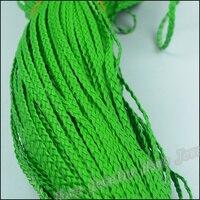 1 バンドル diy ジュエリー アクセサリー 5 ミリメートル pu ワイド グリーン模