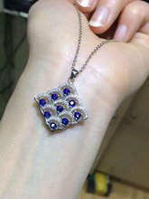 Qi Xuan_Natural Sapphire Fashion Pendant Necklace_Real Necklace_Quality Guaranteed_Manufacturer Directly Sales