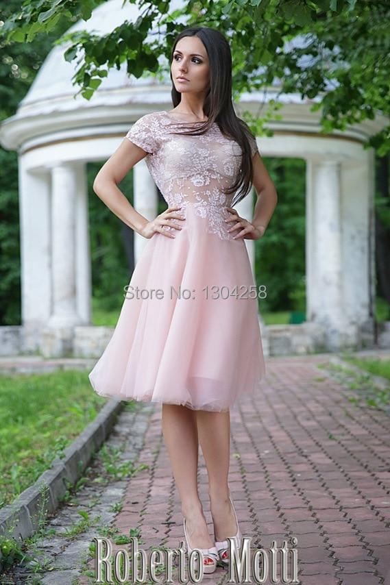 Aliexpress.com : Buy Unqiue Light Pink Knee Length Short Wedding ...