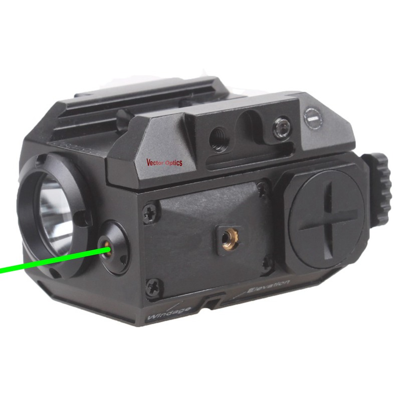 Vector Optics GLOCK 17 19 Pistolet Vert Visée Laser avec LED lampe de Poche