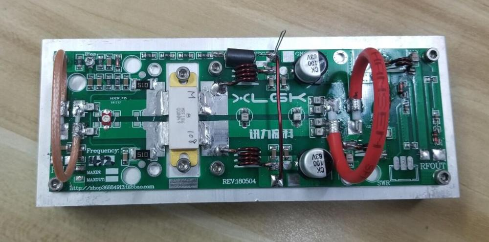 2019 Latest Assembled 100W UHF 400--470MHZ Amplifier Power Amplifier Board For Ham Radio 433MHz Finished  + Heatsink