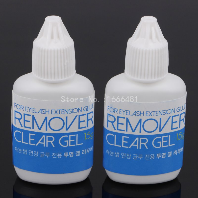 2Pcs Sky Clear Gel Remover for Eyelash Extension Lashes Adhesive Remover 15ml