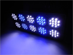 Apollo 10 120*3W LED aquarium light full spectrum reef coral tank light 3W lens, White 12000k &Blue 460nm (Customizable)