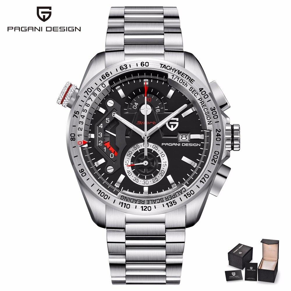 PAGANI CONCEPTION Hommes Montres Top Marque De Luxe Mâle Étanche Sport Chronographe Militaire Montre-Bracelet des Hommes Horloge relogio masculino
