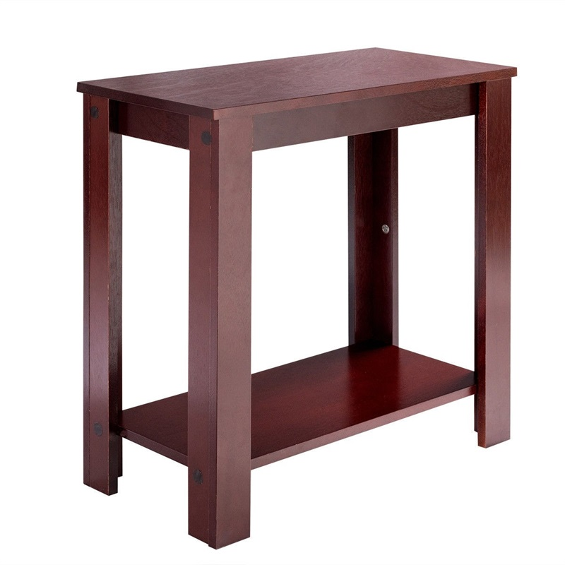 US $48.04 45% OFF|Espresso Wooden Sofa End Table Side Table Rectangle  Tables Living Room Furniture HW51530-in End Tables from Furniture on  AliExpress