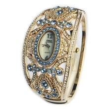 G & D New Luxury Brand Klockor Klockor Guld Armband Klockor Ladies Quartz Armbandsur Relogio feminino Time Crystal Smycken Gift
