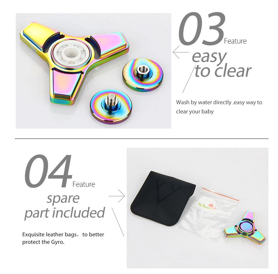 Do Dower Fidget Spinner Ceramic Bearing Anti Stress Spinner Hand High Speed Metal Fidget Spinner Toys for Kids and Adults