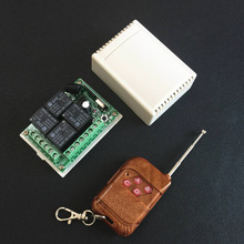 433MHz Universal  Wireless Remote Control Switch DC 12V 4CH relay Receiver Module With RF Remote 433 Mhz Transmitter