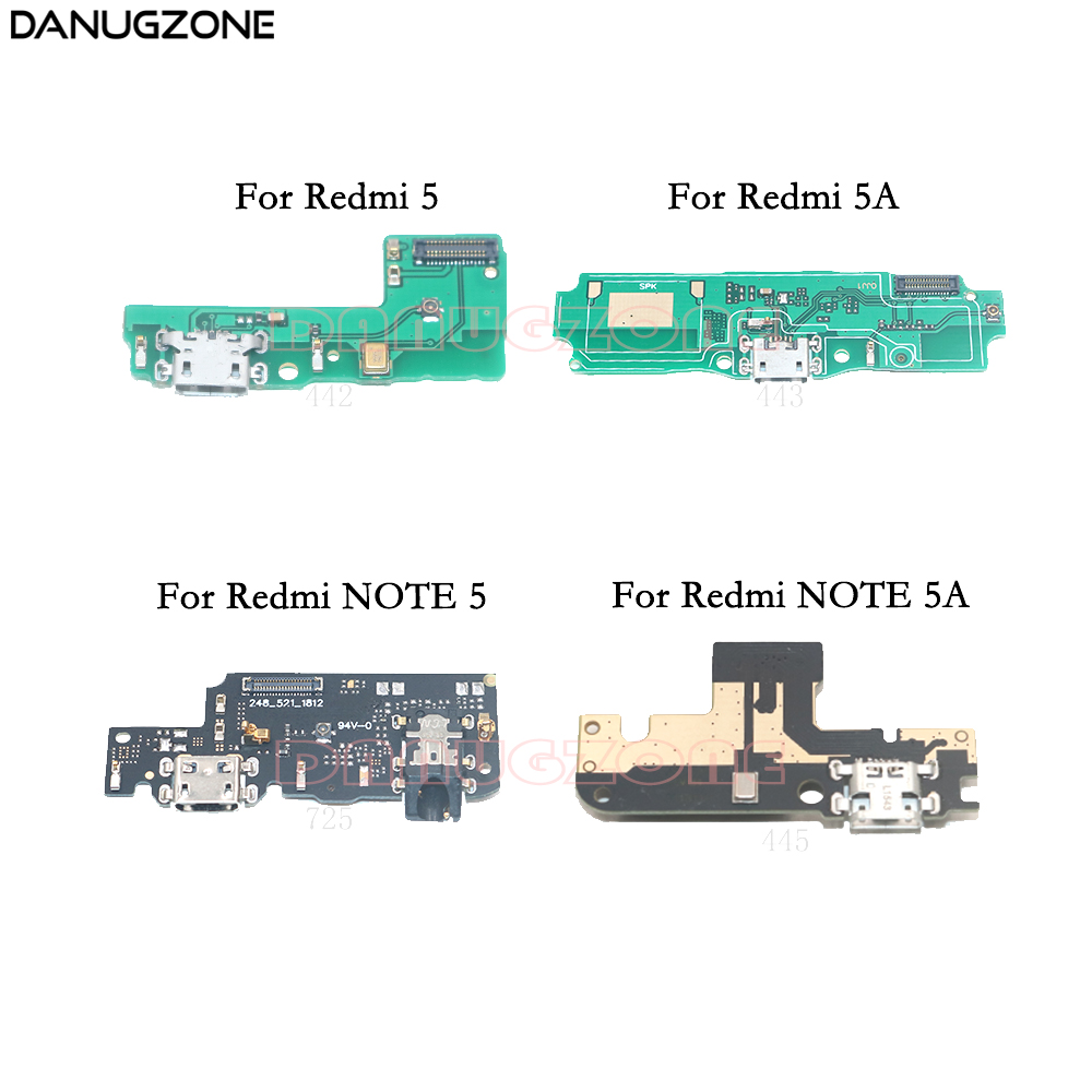 USB Charging Dock Jack Plug Socket Port Connector Charge Board Flex Cable For Xiaomi Redmi NOTE 5 5A / Redmi 5A 5