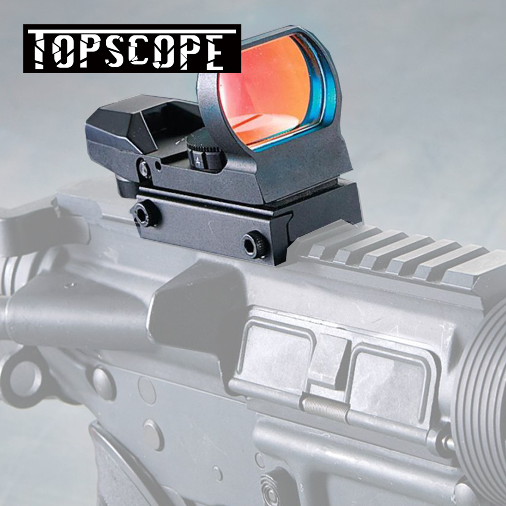 Hunting Scopes Optics Red Dot Sight 20mm Rail Sniper Pistol Airsoft Air Guns Reflex Rifle Scopes Holographic Sight