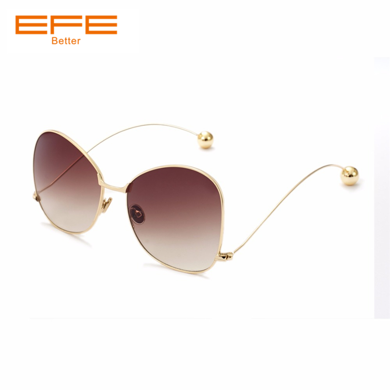 EFE Women Sunglasses Full Metal Frame Eyewear Classic Coating Mirror Lens Female Male Brand Men Driver Glasses Oculos De Sol