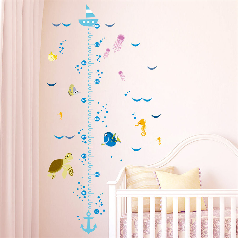 Funny nemo cartoon fish growth chart height measure for baby child funny nemo cartoon fish growth chart height measure for baby child wall sticker home decal kids room nursery decor poster in wall stickers from home nvjuhfo Choice Image