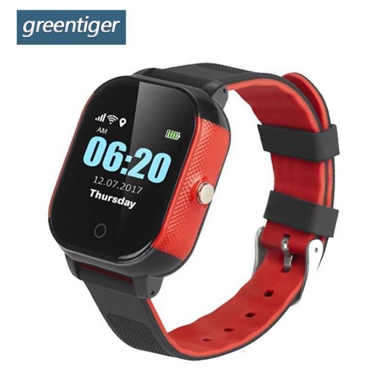 Greentiger GPS WIFI SOS Smart Kids Watch IP67 Waterproof Alarm Clock Anti Lost Safe Baby Smartwatch