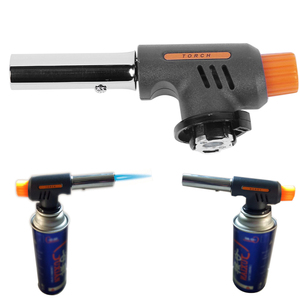 Pro Gas Torch Flamethrower Butane Burner Automatic Ignition Baking Picnic BBQ Camping Outdoor Hiking Fire Flame Gun