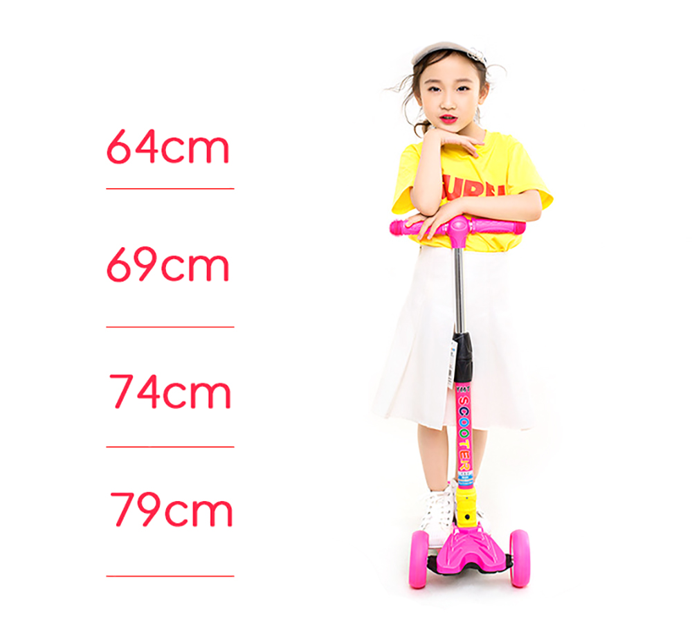 Children Kick Scooter Baby Foldable 3 Wheels LED Outdoor Sport 4-12 Years Old Adjustable Height Triciclo Bikes Toys Gift For Kid