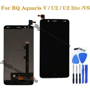 "Image 1 - BQ Aquaris V VS LCD ekran dokunmatik ekran digitizer için BQ Aquaris U2 U2 Lite LCD onarım parçaları 5.2 ""ekran ücretsiz kargo"