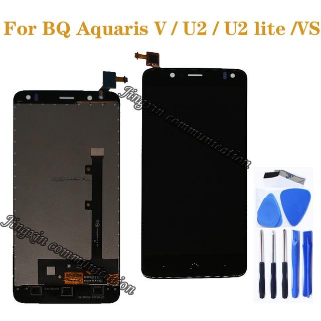 "BQ Aquaris V VS LCD ekran dokunmatik ekran digitizer için BQ Aquaris U2 U2 Lite LCD onarım parçaları 5.2 ""ekran ücretsiz kargo"