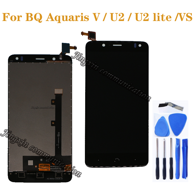 """for BQ Aquaris V VS display with touch screen digitizer for BQ Aquaris U2 U2 Lite LCD repair parts 5.2"""" screen free shipping-in Mobile Phone LCD Screens from Cellphones & Telecommunications"""