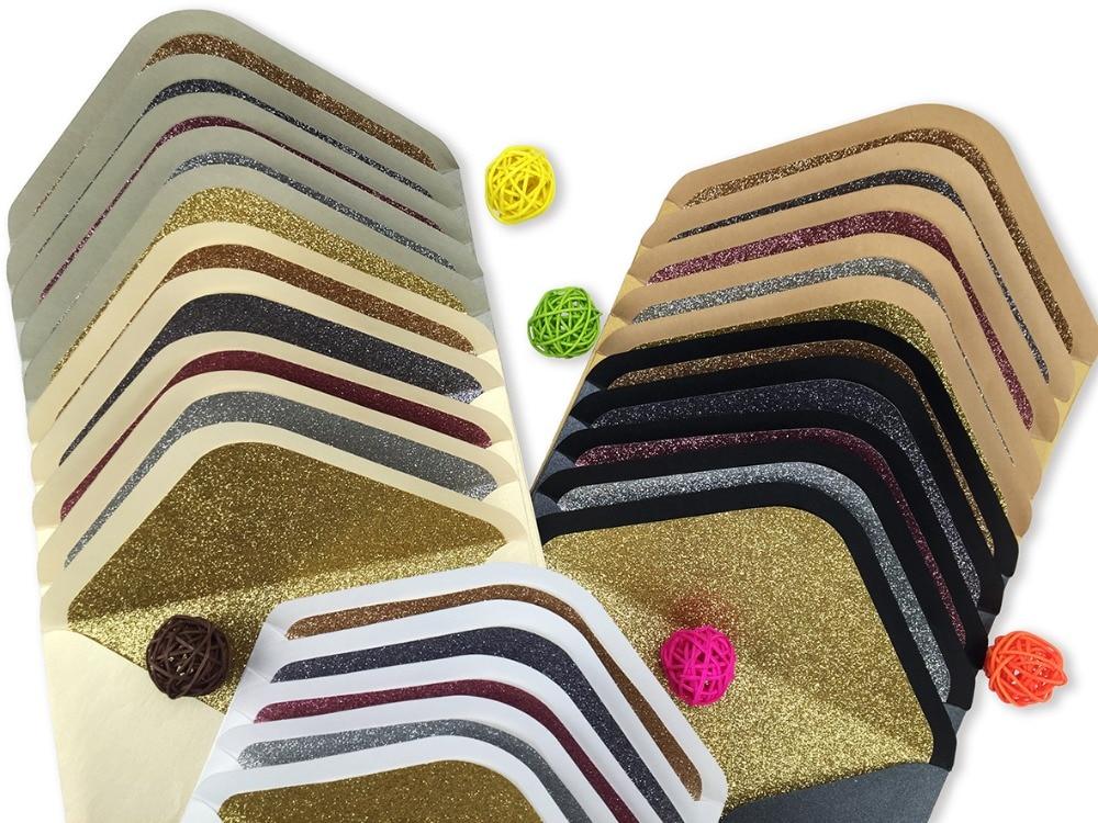 30pcs / lot 특별 한 반짝이 라이너 봉투 여러 레이어 사용 가능한 많은 색상으로 반짝이 봉투