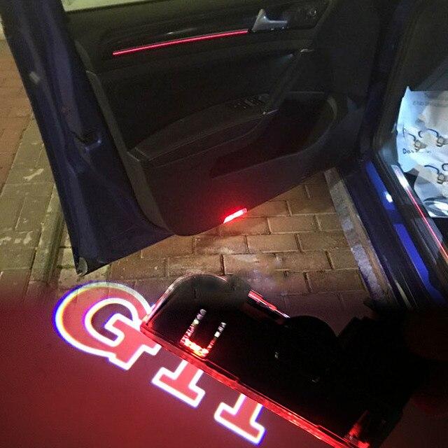 Luz Do Projetor do Logotipo Porta do carro Para Volkswagen VW Passat B6 B7 CC Golf 5 6 7 GTI Tiguan Jetta MK5 MK6 Touareg Scirocco Sharan EOS