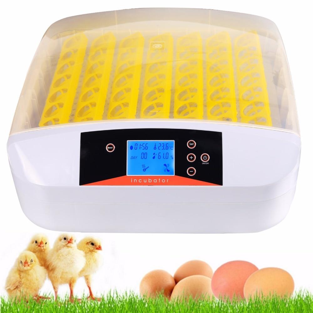 Homdox Intelligent Automatic Chicken Duck Egg Hatcher Digital Hatching 56 Eggs Incubator EU Plug #3020
