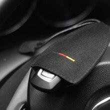 שכבה עליונה עור אוניברסלי אוטומטי מפתח מקרה עם זמש באיכות גבוהה רכב מפתח ארנק עבור BMW מפתח מקרה לנץ מפתח מקרה