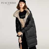 2017 new hot winter Thicker woman Down jacket Coat Parkas Bread clothing Loose Over knee long Double layer Stand collar Cold