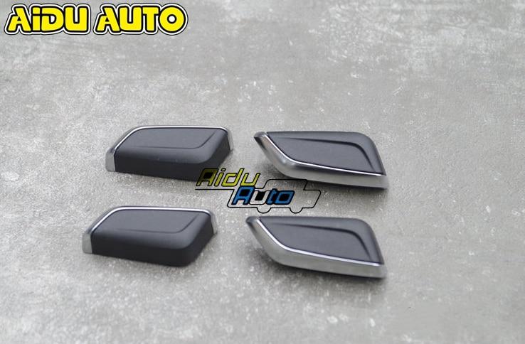 CHROME MODIFIED SEAT ADJUSTMENT KNOB BUTTON SWITCH FOR AUDI A4 B9 A5 Q5 Q7 4M NEW TT