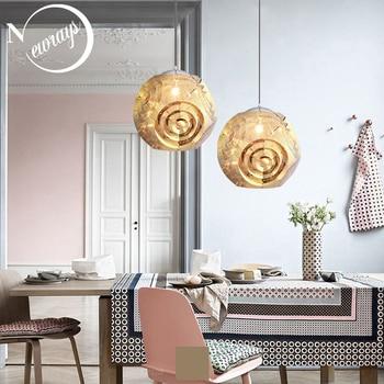 สแตนเลสสตีลจี้รูปทรงเรขาคณิตโคมไฟ E27 220 V space ball แขวนสำหรับห้องครัวห้องนั่งเล่นห้องอาหาร hall