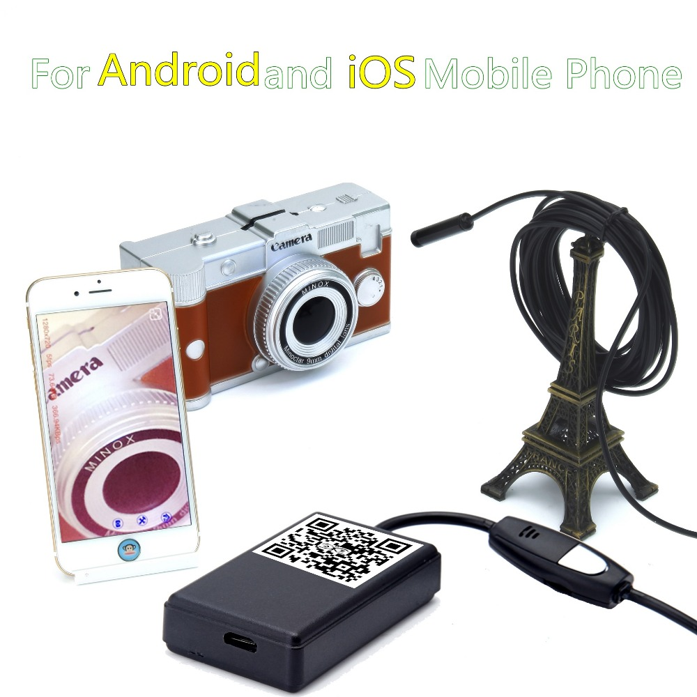 ФОТО Wireless WIFI Endoscope 9mm Len 6 LED Waterproof Borescope Inspection Video CCTV Camera Videcam Inspection Phone WI FI Borescope