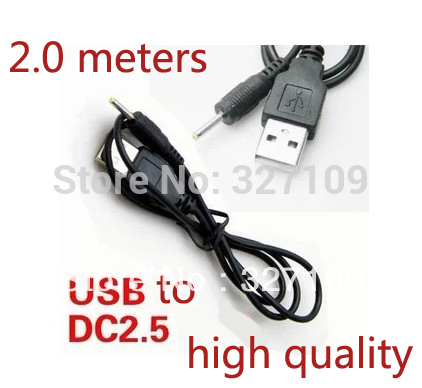 2.0m 6FT 5V 2A USB Cable Lead Charger Power Supply for 2.5mm Chinese Android cenmax vigilant v 6 a