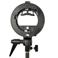 Godox S Type Durable Plastics Bracket Bowens Mount Holder For Speedlite Flash Snoot Softbox Photo Studio