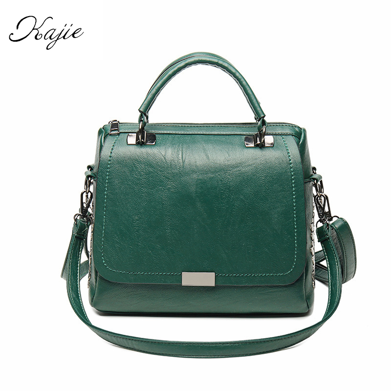 Casual Soft Pu Leather Women Handbag Female Shoulder Bag Messenger Bag Larger Size Winter Tote Green Top-handle Bags Favourite