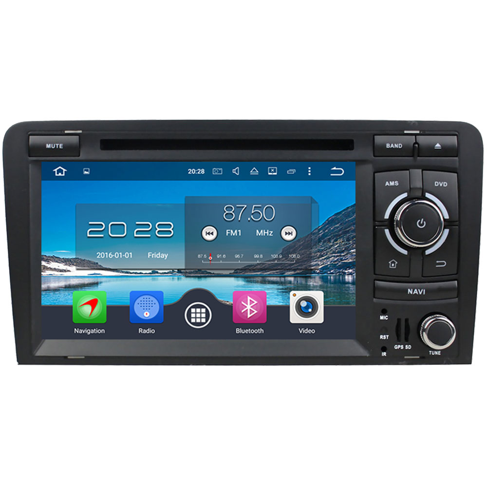7 Octa Core Android 6.0 4GB RAM 32GB ROM 3G/4G WIFI DAB+ Car DVD Multimedia Radio Audio GPS Player For Audi A3 S3 RS3 2003-2013
