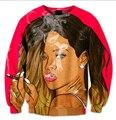 New style Fashion Mens/Womens Sweatshirts Bad Gal Rihanna Funny 3D Print Casual harajuku Sweatshirt free shipping