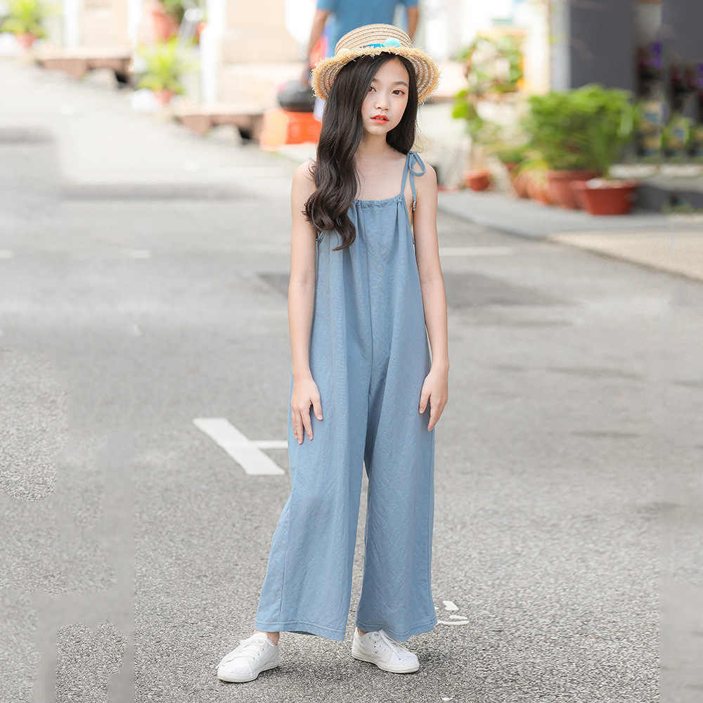 Girls Jumpsuit For Children 2019 Summer Kids Girls Rompers Sleeveless  Casual Jumpsuits For Girl Teen Clothing 8 10 12 14 16 Year|Overalls| -  AliExpress