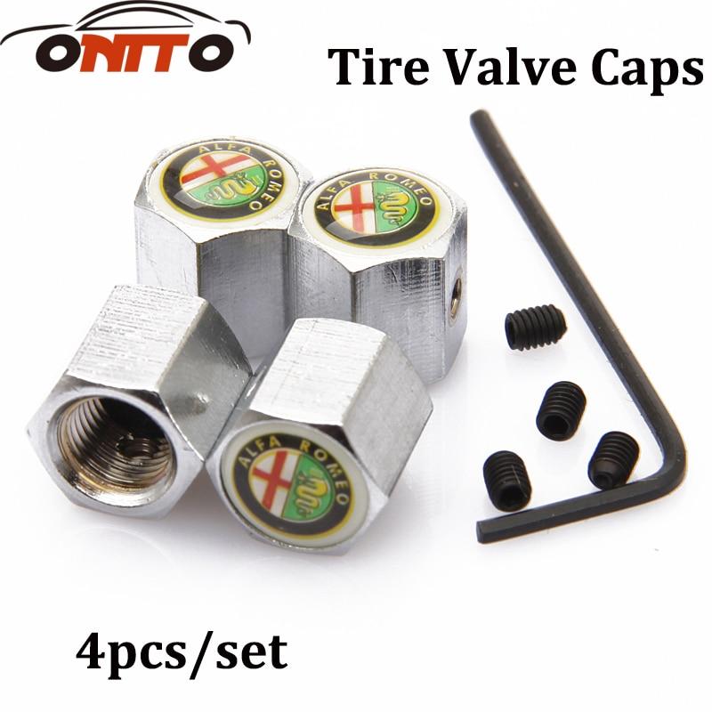 Hot selling 4Pcs/Set Car anti-theft valve cover Car Styling anti-theft valve cover valve cap