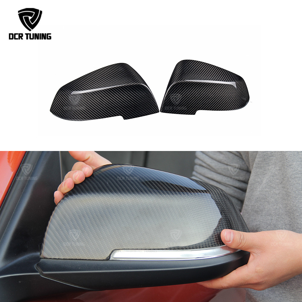 For BMW Carbon Mirror F30 F20 F32 F33 F36 X1 E84 2012 - 2016 F30 F32 F33 F20 Carbon Mirror Add On Style & Replacement Style caps f20