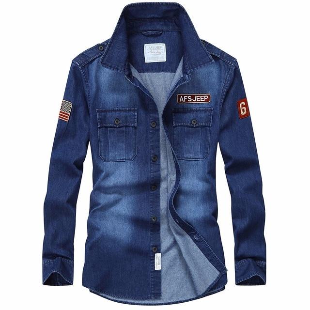 Модная Джинсовая рубашка Мужская Длинные рукава брендовая Повседневная рубашка Офис тонкий человек Camisa деним Hombre повседневная мужская рубашка джинсовая рубашка