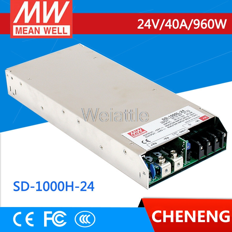 MEAN WELL original SD-1000H-24 24V 40A meanwell SD-1000 24V 960W Single Output DC-DC Converter selling hot mean well sd 350b 24 24v 14 6a meanwell sd 350 24v 350 4w single output dc dc converter