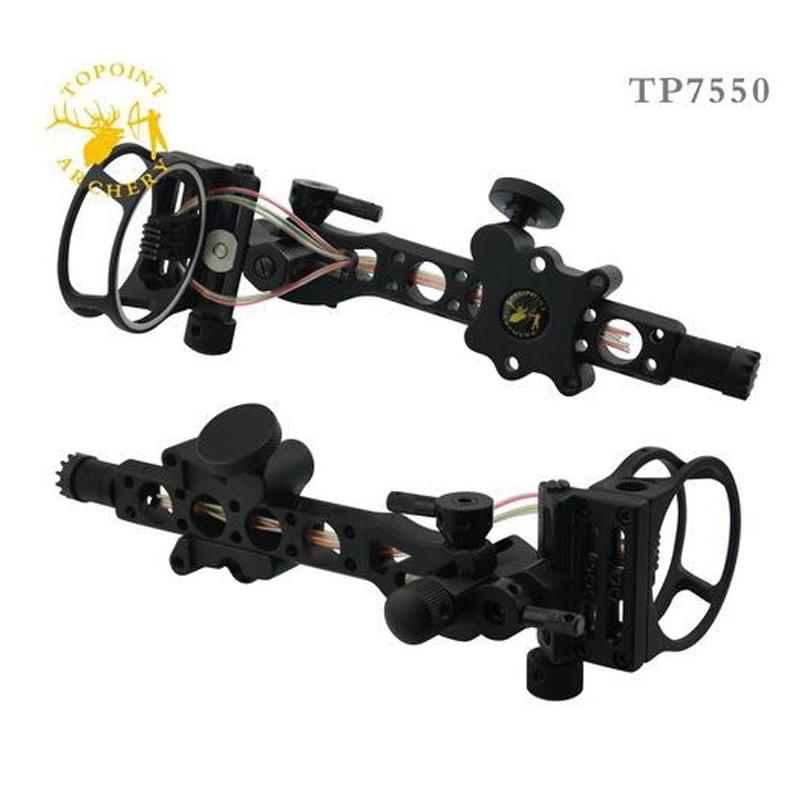 цена на Free shipping 5 pins .019 Bow Sight with Micro Adjust Detachable Bracket, Sight Light - Black for compound bow archery 1pcs/Lot