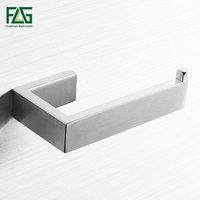 FLG Paper Holders bathroom hanging hardware accessories wall mounted Nickel Brushed tissue holder paper Holders