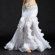 Women Dancewear 9 Colors Belly Dance Clothes Full Circle Long Waist Maxi Skirt Side Split Women Chiffon Belly Dance Skirts