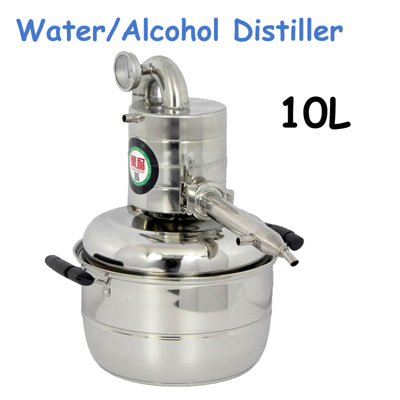 10L Water/Alcohol Distiller Small Household Brew Kit Still Wine Making Brewing Machine Distillation Equipment