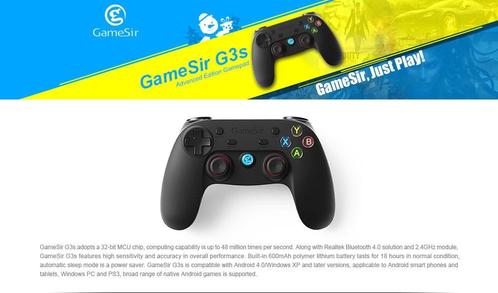 GameSir G3s 2.4 Ghz Wireless Bluetooth Gamepad בקר עבור אנדרואיד תיבת הטלוויזיה Smartphone Tablet PC Gear VR עם סוגריים.