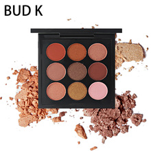 BUD K New Eye Makeup Kit Waterproof Metallic Shimmer Eye Shadow Palette 9 Colors Natural Matte Eyeshadow Nude Cosmetics Set цена