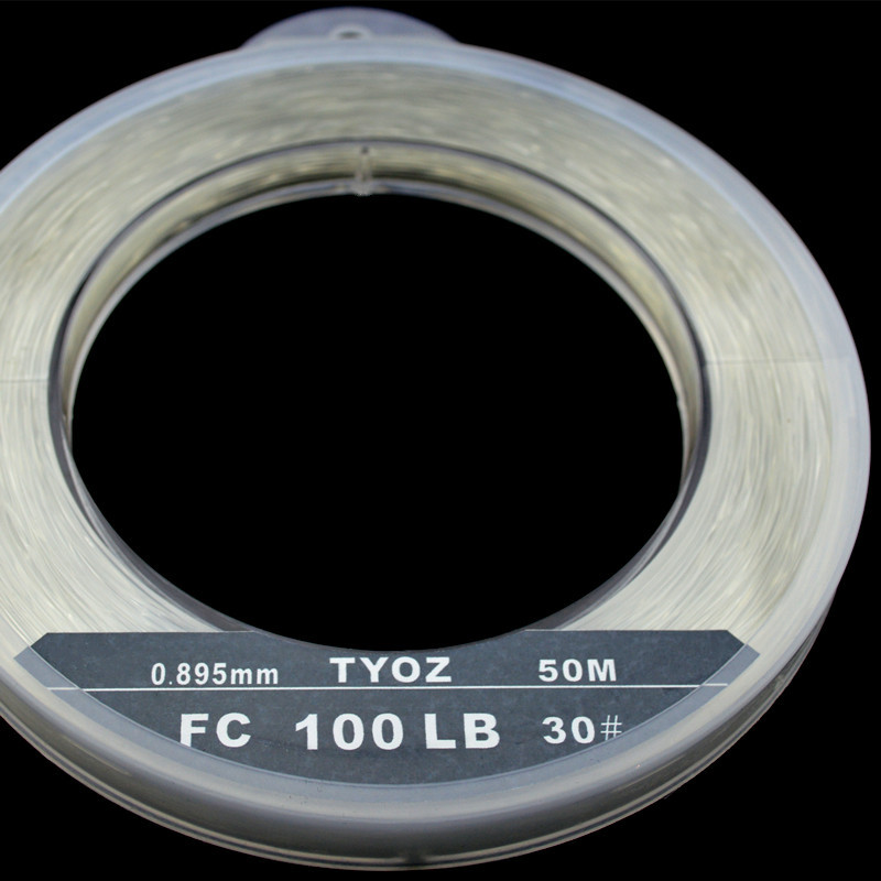 TYOZ Brand NO.35# 118LB 100% fluorocarbon fishing line Carbon Fiber Leader Line Sea Fishing Line chris van gorder the front line leader
